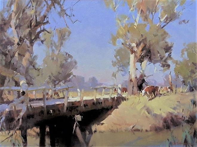 On Pranjip Creek -OIL 70 x 90 cm Painted 2011