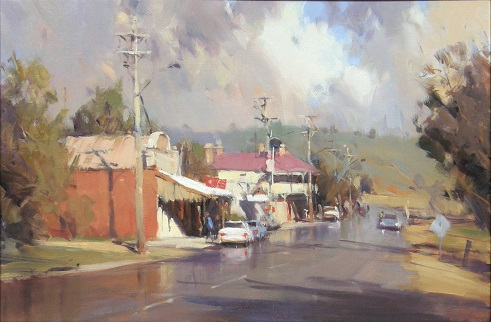 After Showers, Dookie -OIL 61 x 91 cm Painted 2009 *Won Best Painting Award, Alexandra 2010