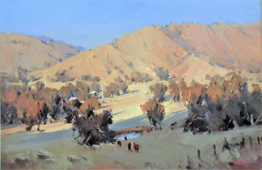 Dry Summer-Sheans Creek-61 x 91 cm Painted on site 2013
