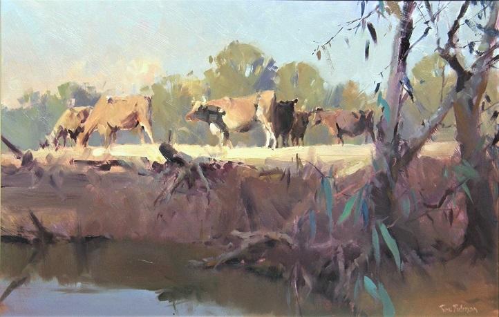 "Riverbank Kialla -OIL 60 x 90 cm Painted 2007 * won ""Best Painting award"" ,Wangaratta 2007"