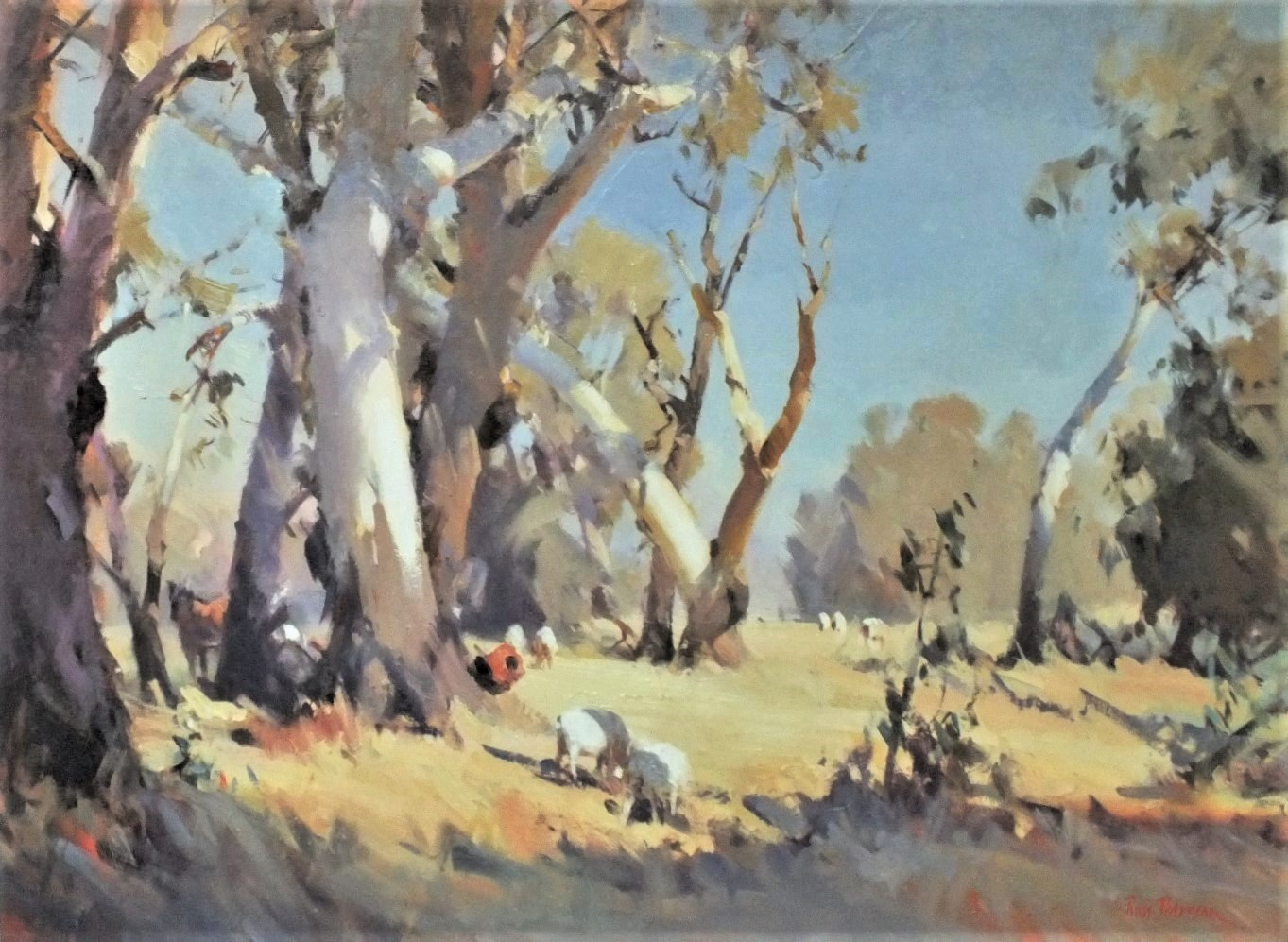 BUSH CLEARING, NORTHERN VICTORIA- OIL 75 X 100 CM. PAINTED 2011